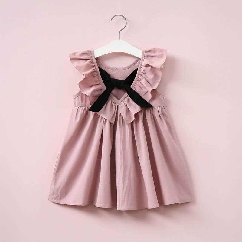 Váy đầm xòe bé gái có nơ sau lưng M110
