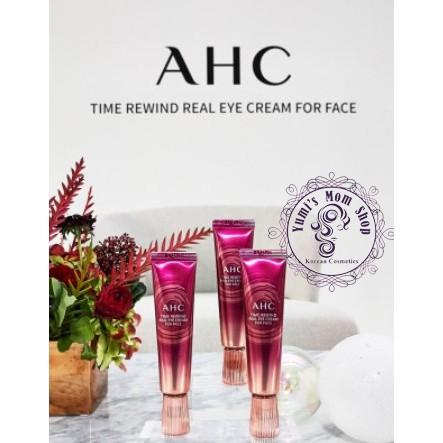 [Mã FMCG2110 hoàn 8% xu đơn 350K] Kem mắt AHC Time Rewind Real Eye Cream For Face NEW 2020