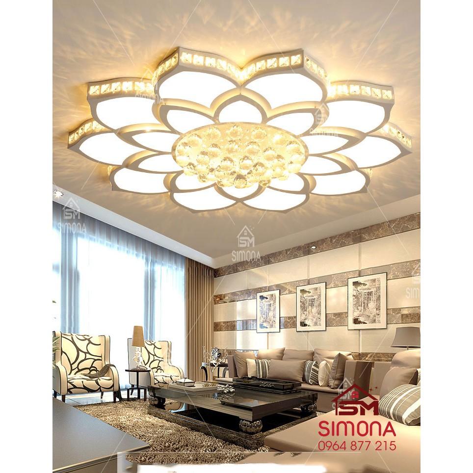 Đèn led ốp trần phòng khách hình CÁNH SEN TAMOGA DCH 0904