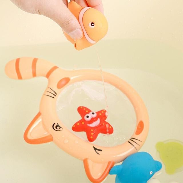 Đồ chơi nhà tắm thú nước kèm vợt SKIDS