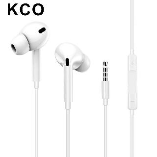 Tai nghe nhét tai KCO i30 chất lượng cao kiểu dáng thể thao có jack 3.5mm và nút điều khiển âm lượng