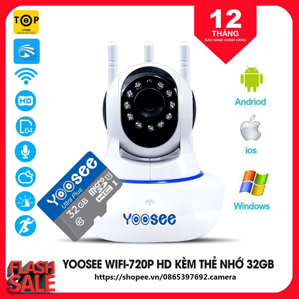 [Mã ELCAMAR giảm 7% đơn 500K] Combo Camera IP YooSee Tiếng Việt Và Thẻ Nhớ 32Gb Yoosee Chuyên