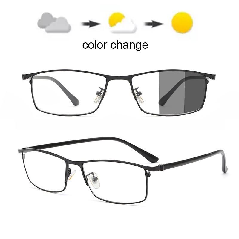 Blue Light Blocking Glasses Square Nerd Eyeglasses Frame Anti Blue Ray Computer Game Photochromic UV400 Outdoor SunGlass