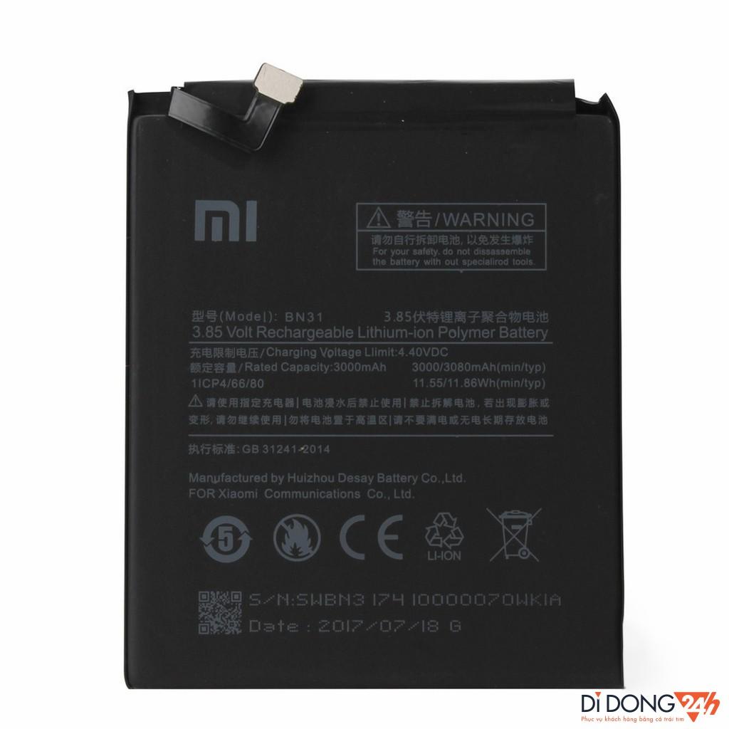 Pin Xiaomi BN31 ( Pin Xiaomi Mi 5X / Mi A1 / Redmi Note 5A Prime ) V24h.vn - Di Động V24h - 14768813 , 2277282495 , 322_2277282495 , 170000 , Pin-Xiaomi-BN31-Pin-Xiaomi-Mi-5X--Mi-A1--Redmi-Note-5A-Prime-V24h.vn-Di-Dong-V24h-322_2277282495 , shopee.vn , Pin Xiaomi BN31 ( Pin Xiaomi Mi 5X / Mi A1 / Redmi Note 5A Prime ) V24h.vn - Di Động V24h