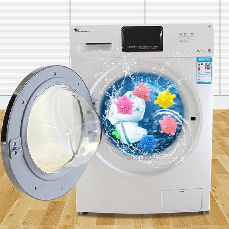 Combo 5 quả bóng giặt nhím cầu gai giặt đồ máy giặt siêu sạch