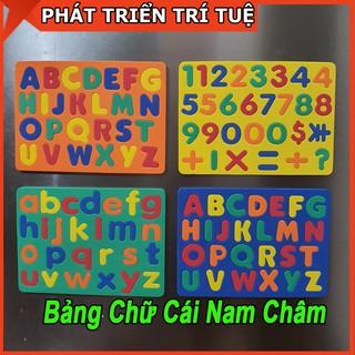Bảng Chữ Cái Và Số Hút Nam Châm Giúp Bé Vừa Học Vừa Chơi