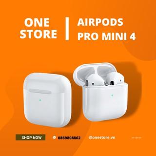 [ Hàng loại 1 ] Tai nghe bluetooth airpods pro mini 4 Hỗ trợ mic 2 tai Đổi tên – Định vị – Chống ồn chủ Động
