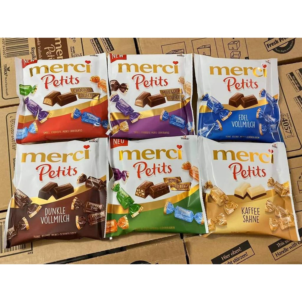 Kẹo socola Merci Petits tổng hợp và Merci thanh siêu ngon