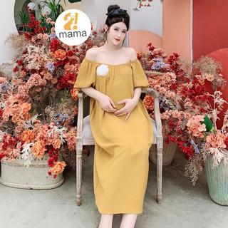 [Mã WABRWA8 giảm 15% đơn 99k] Váy bầu thiết kế mùa hè 2MAMA dáng công sở suông chữ A - V91 thumbnail