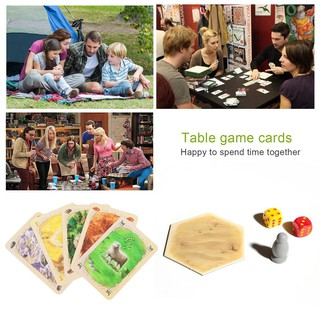 Catan Board Game Family Fun Playing Card Game Educational Theme Cards Game