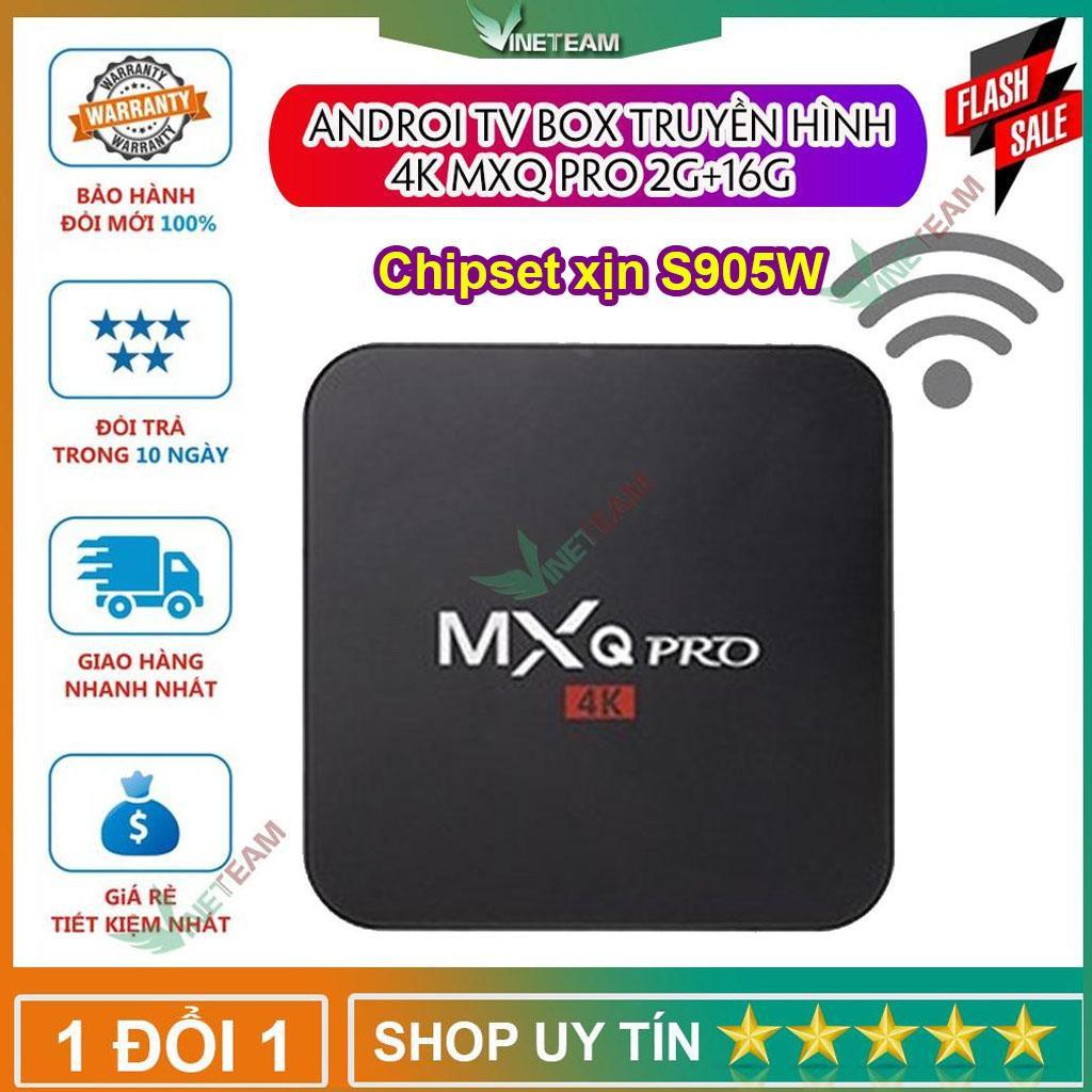 Androi TV Box MXQ 4K Pro /TX3 Mini 2G+16G Chipset xịn S905W Tích hợp FPT Play - Biến TV thường thành Smart TV