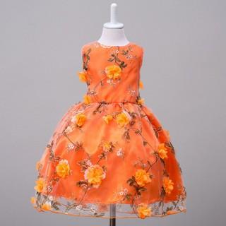 Đầm công chúa không tay họa tiết hoa thêu thời trang xinh xắn