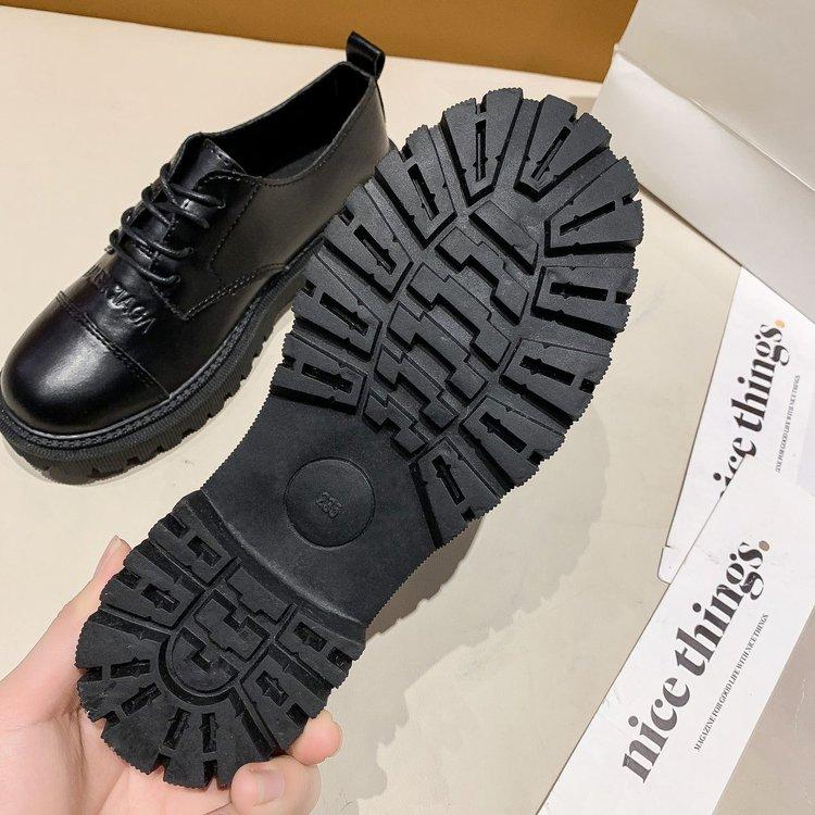 Giày Oxford Nữ Đế Bằng Mũi Tròn Cột Dây Thời Trang