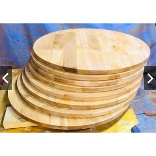 mặt bàn tròn gỗ cao su đường kính 60cm