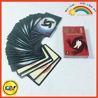 Bộ thẻ bài ma sói 55 lá bìa cứng
