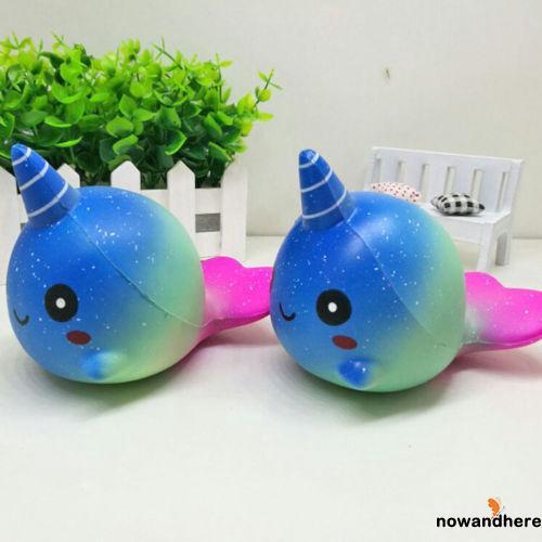 NVN-Cute decompression funny whale slow rebound bright starry sky children toys