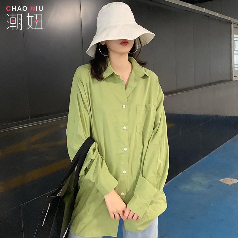 áo sơ mi nữ form rộng kiểu dáng đơn giản theo phong cách hàn quốc dễ phối đồ