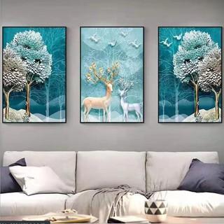 Tranh treo tường 3 bức phong cách Scandinavian - Bắc Âu 09