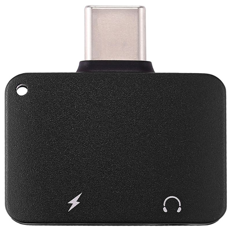 Type-C 2-in-1 audio converter type-c to 3.5mm headphone audio integrated adapter