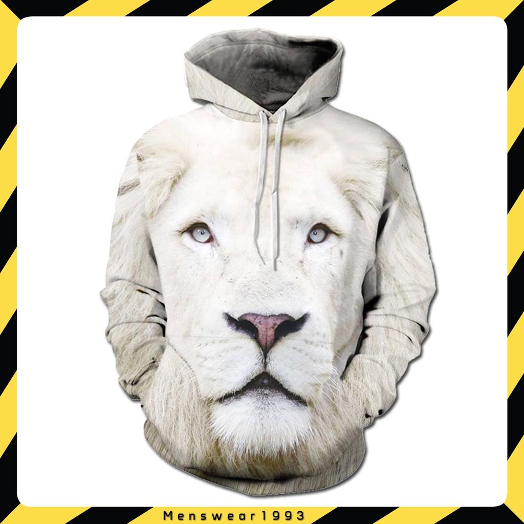 [FREE SHIP+ Ảnh thật] Áo Sư tử trắng 3D Siêu chất. hoodie, Áo có mũ - Áo khoác nỉ