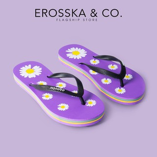 Dép đi biển xỏ ngón in hình hoạ tiết dễ thương Erosska DK012