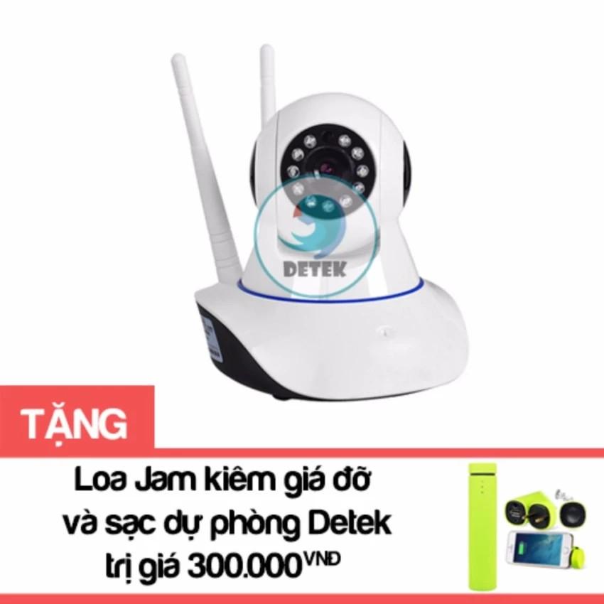 Bộ Camera HD Wireless IP Yoosee X8100 xoay 360 độ (Trắng) Tặng Loa Jam kiêm giá đỡ và sạc dự phòng