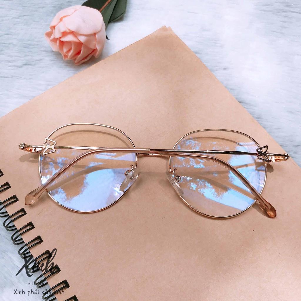 [ẢNH THẬT] Mắt kính giả cận gọng kim loại dễ thương Butterfly 2020