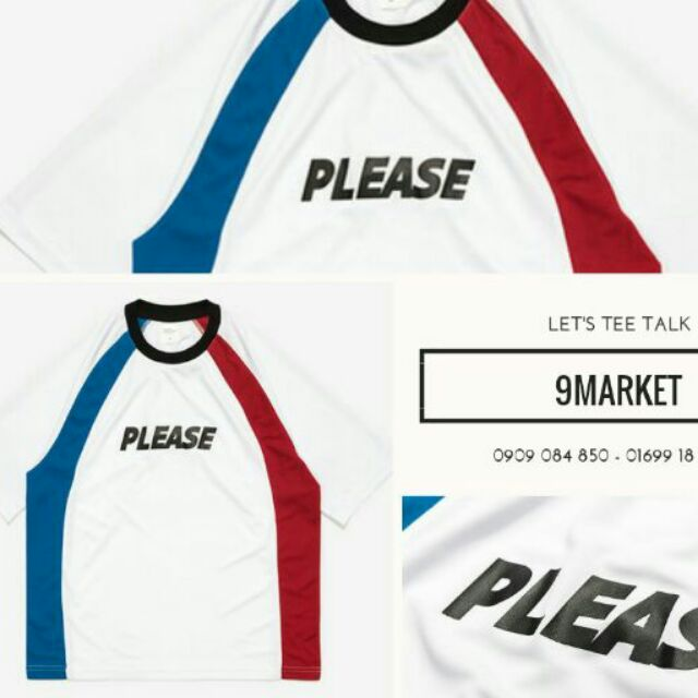 Áo sọc xanh đỏ PLEASE