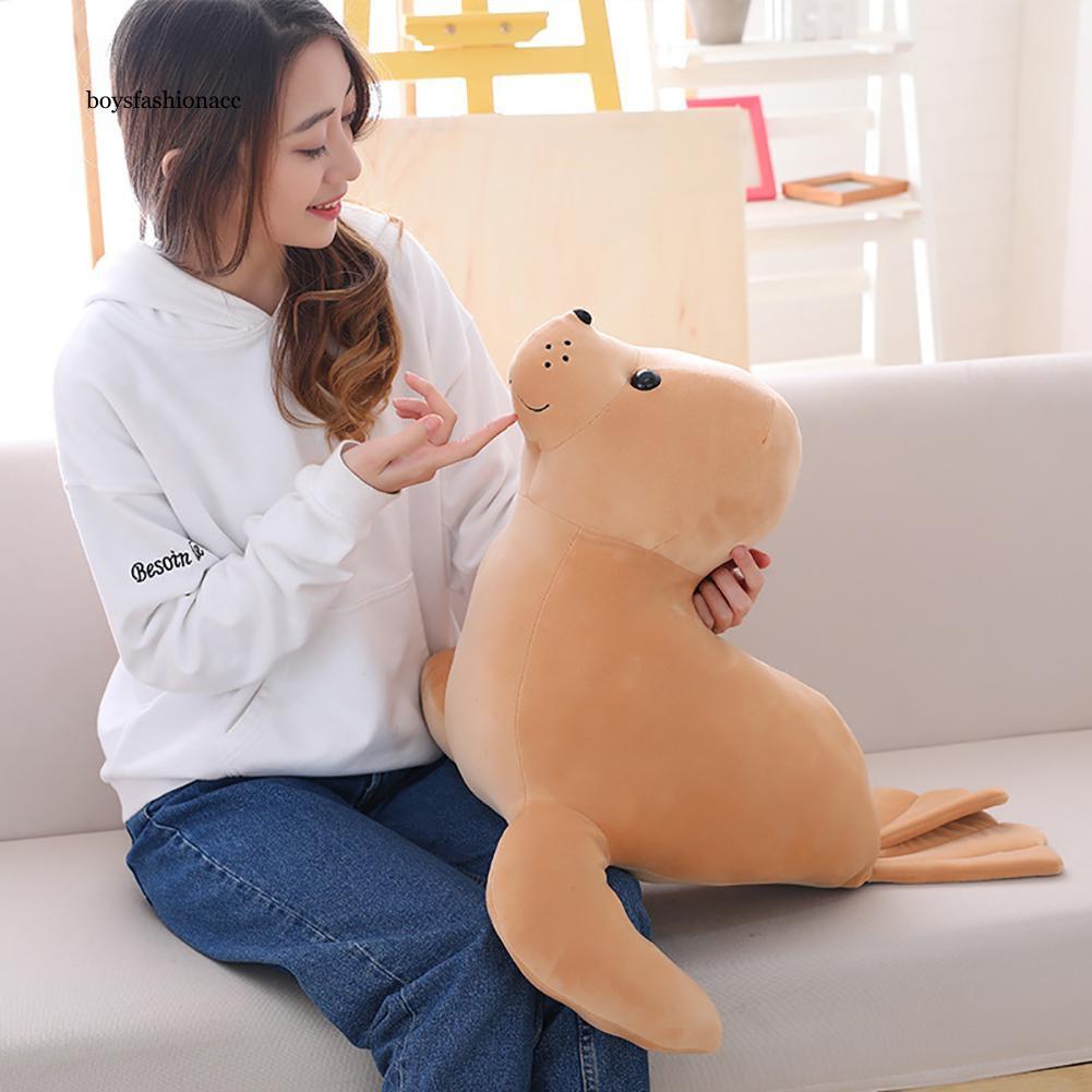 BOYS Cartoon Plush Seal Animal Stuffed Doll Hug Throw Pillow Toy Kids Birthday Gift