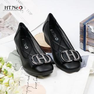 Giày nữ - gia y đe xuo ng HT.NEO (5) da bò nguyên miếng siêu mềm kết hợp đế xuồng 3 phân tôn dáng cực đẹp NU71 thumbnail