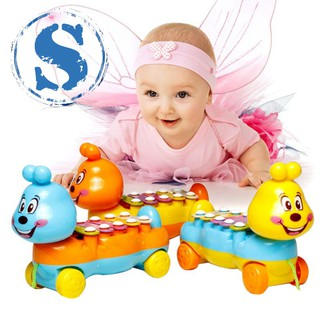 Children's Music Toy Caterpillar Hand Knocking on The Piano Educational Toys