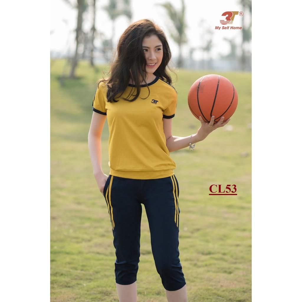 Đồ bộ mặc nhà 3T My Self Home - Bộ thể thao cotton áo cộc quần lửng CL53
