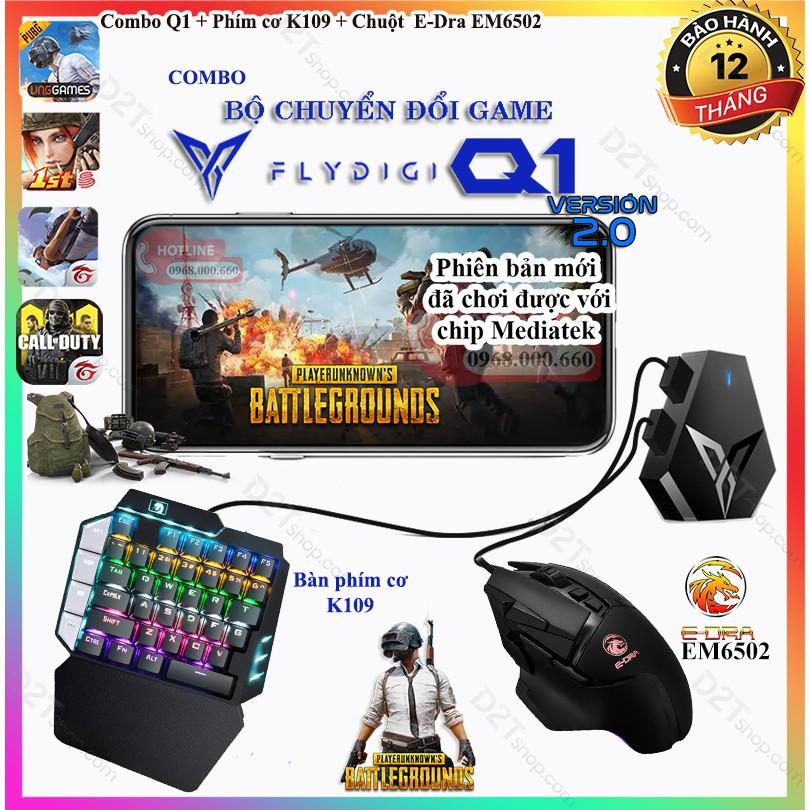 Chuột gaming E-Dra EM6102 LED RGB chơi game PUBG, Call of Duty