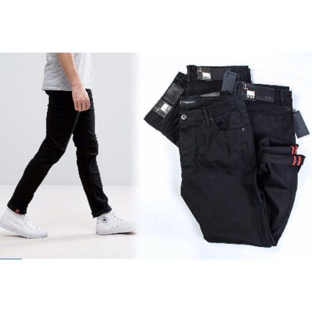 Quần jean nam màu đen VNXK