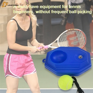 TU|Tennis Trainer Rebounder Ball with Rope Wear-resistant Individual Exercise Sport Equipment Tool for Tennis Beginner