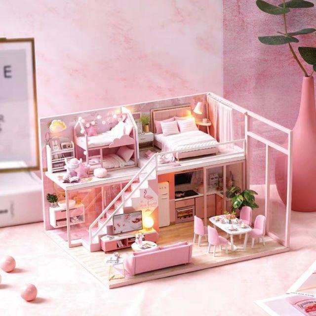 Kèm Mica – Mô hình nhà gỗ búp bê Dollhouse DIY – L027 Meeting your Sweet