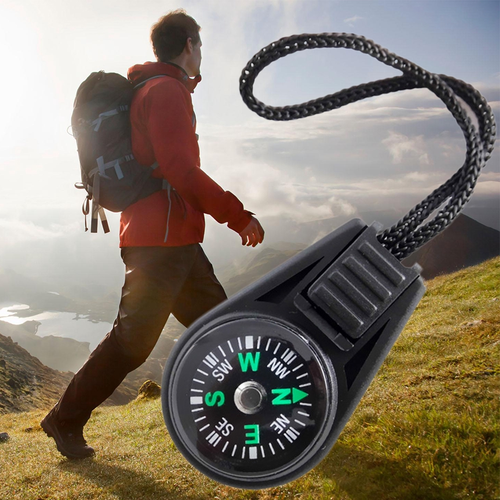 Portable Mini Compass w/ Sling for Camping Hiking Outdoor Sports Navigation New