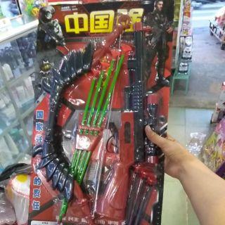 Bộ đồ chơi cung kem súng có đan hít