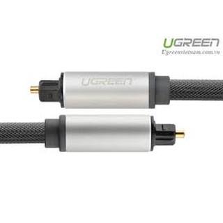 [Chính Hãng]Cáp audio quang (Toslink, Optical)vỏ nhôm Ugreen 10540 kết nối loa âm li với DVD, VCD, Mini Disc, Tivi...