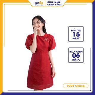 Đầm Tơ YODY Thêu Tay Bồng Siêu Xinh -VAN4084 thumbnail