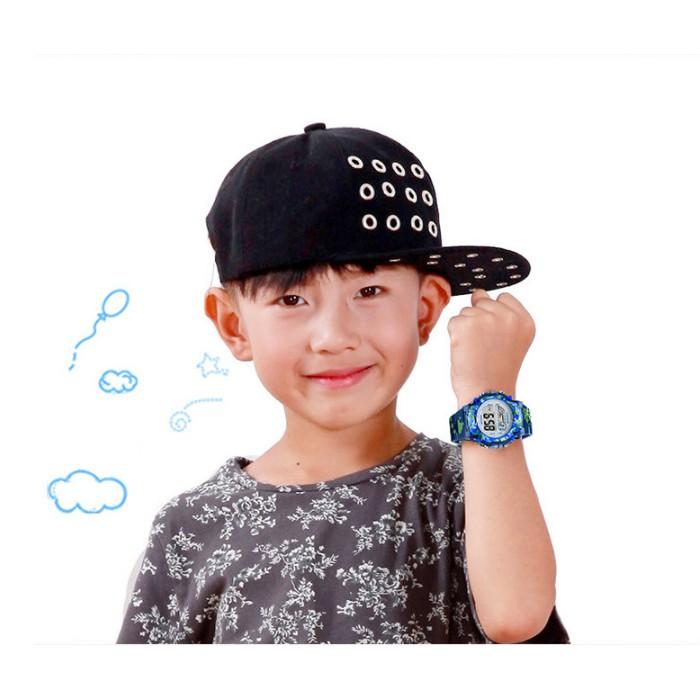 Đồng hồ trẻ em đa chức năng kết hợp đèn Lex 7 màu chính hãng COOBOS