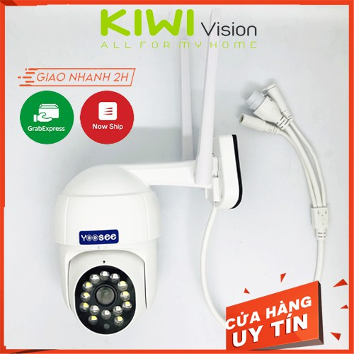 Camera Wifi Yoosee Ngoài Trời PTZ, Hồng Ngoại Xoay 360 Độ Full HD 1080p, Hàng Cao Cấp Chống Mưa Nắng Tặng Hộp Kỹ Thuật
