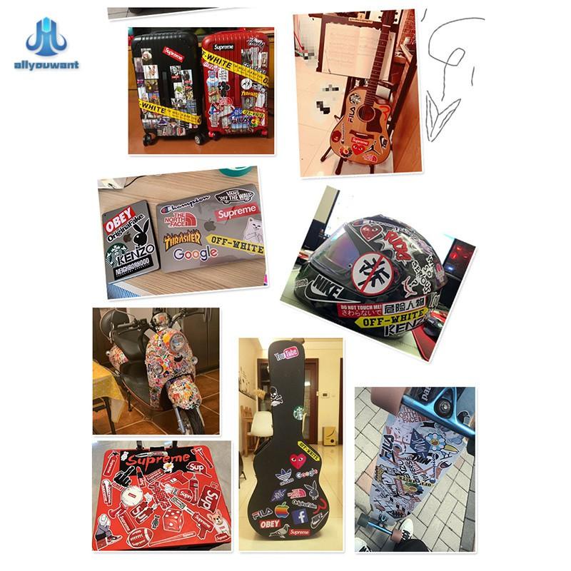 Bộ 54 Miếng Dán Pvc Chống Nước Hình Nhân Vật Hoạt Hình Anime Cho Vali Xe Đạp