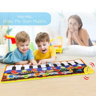 Thảm tích hợp phím đàn piano đồ chơi cho bé