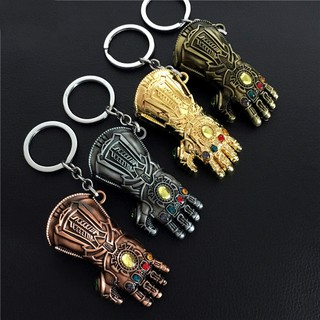Avengers 3 Infinity War Thanos glove Keychain Anime For Fans Souvenir Jewelry