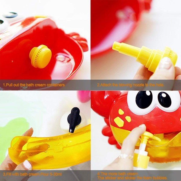 Cua thổi bong bóng có nhạc vui nhộn cho bé chơi khi tắm 096263 LH 0962635288(zalo)