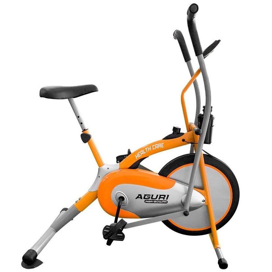 Xe đạp tập thể dục cho người già AGURI AGA 206 chính hãng, lựa chọn tặng kèm Lắc eo, Con lăn tập bụng, Dây ngũ sắc