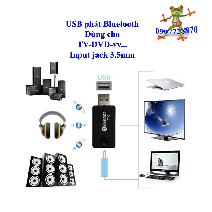 Usb phát Bluetooth TX9 dùng cho TV DVD Mp3.....