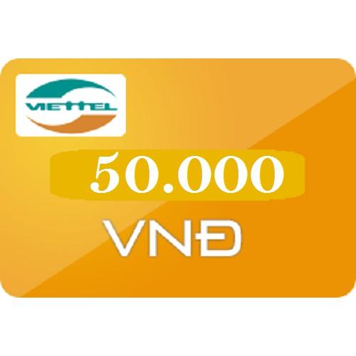 Thẻ nạp điện thoại Viettel 50k