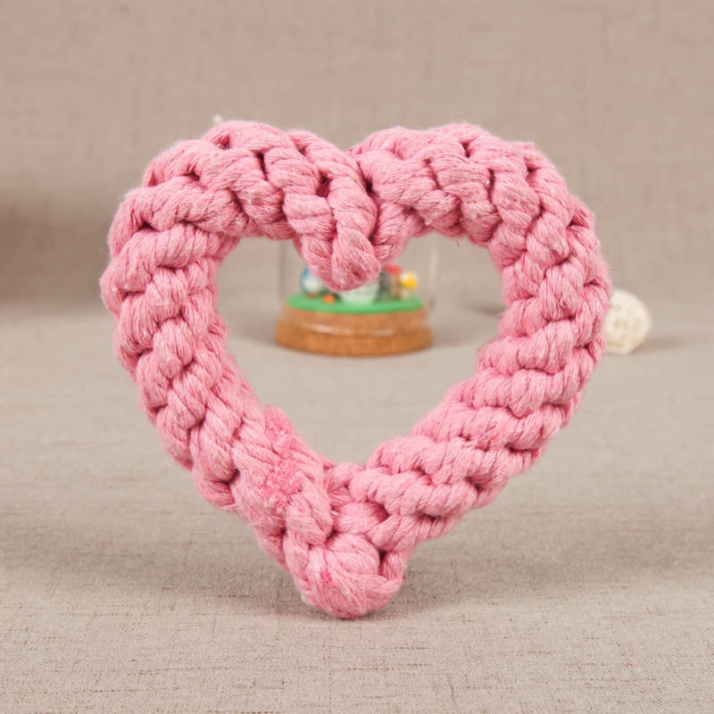 Pet Cotton Rope Training Toy Bite Resistant Molar Cotton Rope Toy Knotted Cord Handmade Toy